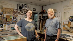 Emily Stoneking and Larry Ribbecke in their studio