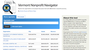 Seven Days Releases Database Driving Its Series on Vermont's Nonprofit Economy