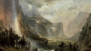 """The Domes of Yosemite"" by Albert Bierstadt"