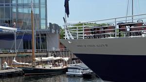 The Spirit of Ethan Allen III docked at Burlington's waterfront