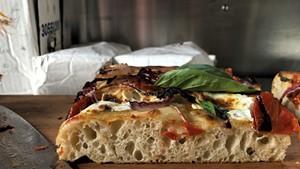 Sicilian-style pie at Pizzeria Ida