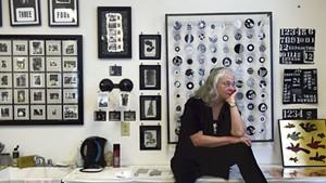 Janet Van Fleet in her studio