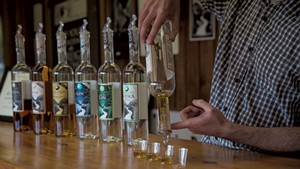 A tasting at Smugglers' Notch Distillery