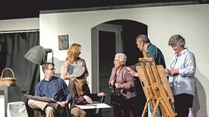 From left: Bob Martin, Pam Dewey, Rachel Natvig, Janet Stambolian, Leigh Guptill and Kimberly Rockwood