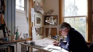 Illustrator David Macaulay in his Norwich studio