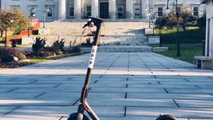 A Bird scooter
