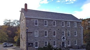 Old Stone Mill building in Middlebury