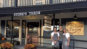 From left: Silas Pollitt, Allie Duhamel and Tyler Stratton of Stone's Throw