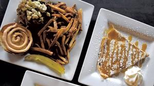 Dishes at the Skinny Pancake