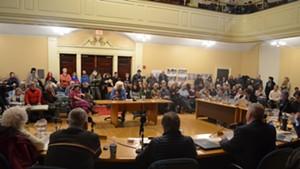 Barbara Alsop speaks before the Burlington City Council