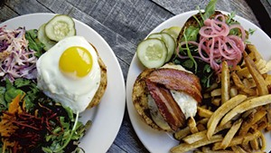 Burgers at the Farmhouse Tap & Grill