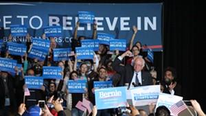 Sen. Bernie Sanders campaigns in Iowa in January 2016.