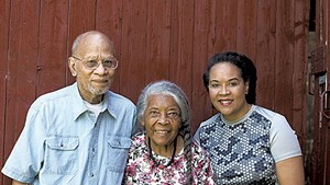 Lydia Clemmons Jr. (right) with her parents, Jackson and Lydia Clemmons