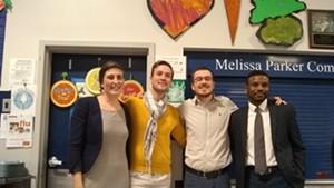 Left to right: Perri Freeman, Kienan Christianson, Jack Hanson and Mohamed Jafar