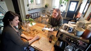 Nina Livellara (left) and Brooke Isabelle at Kizy