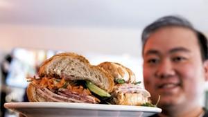 Vietnamese-style banh mi sandwich