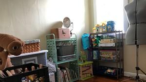 Storage closet after decluttering