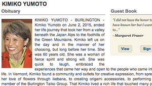 From the Burlington Free Press obituary