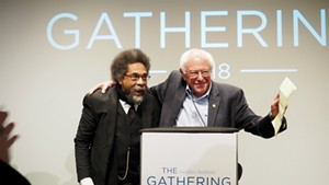 Dr. Cornel West and Sen. Bernie Sanders (I-Vt.) at the Sanders Institute Gathering in November 2018.