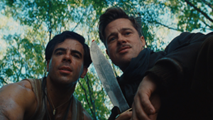 Eli Roth and Brad Pitt in Inglourious Basterds