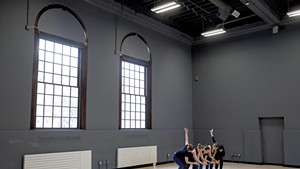 UVM dance students rehearsing in Cohen Hall