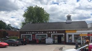 A Champlain Farms gas station on Main Street in Burlington.