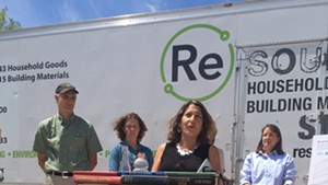 Deb Markowitz, secretary of the Vermont Agency of Natural Resources, at a press conference on Thursday