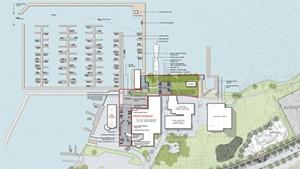 A rendering of Burlington Harbor Marina Phase 1