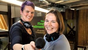 """But Why"" host Jane Lindholm (left) and producer Melody Bodette"