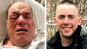 Douglas Kilburn (left) Officer Cory Campbell