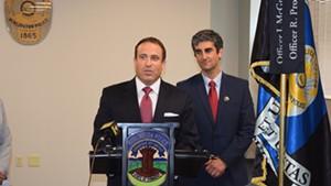 Police Chief Brandon del Pozo and Mayor Miro Weinberger