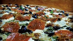 Pizza at Good Times Café