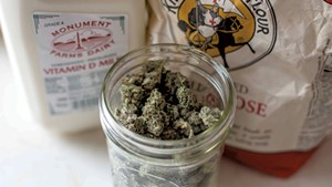 "Some of the ingredients ""Bobby"" uses to make cannabis-infused sausage and gravy"