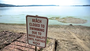 Pollution in Lake Champlain has led to beach closures in recent summers.