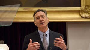 Gov. Peter Shumlin delivers his budget address in January.