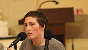 Perri Freeman (P-Central District) at Monday's council meeting