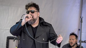Ezra Oklan performing with Matthew Mercury at Waking Windows