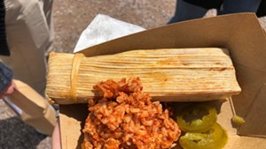 Black bean and corn tamale from Gracie's
