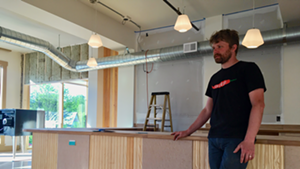 Tobin Myers Porter at Front Seat Coffee during renovation