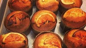 Orange olive oil cakes