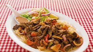 Somali beef with noodles at Kismayo Kitchen