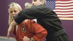 Laurie Shover with Rick Massar at Villari's Self-Defense & Wellness Center
