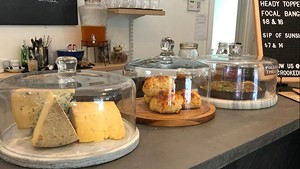 Housemade cheese scones at the Crooked Ram