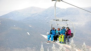 A lift at Stowe Mountain Resort
