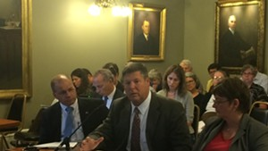 Al Gobeille (center), chairman of the Green Mountain Care Board, briefing a health oversight committee