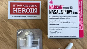 A kit with the overdose-reversing drug Narcan