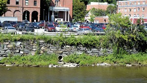 A Montpelier lot that drains directly into the Winooski River