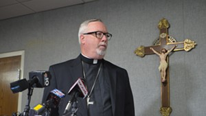 Bishop Christopher Coyne at Thursday's press conference