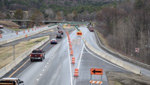 A former construction zone on Interstate 89
