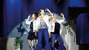 From left: Andriana Chobot, Chloë Fidler and Becky Millard